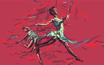 Ballerina Dancing Mac wallpaper