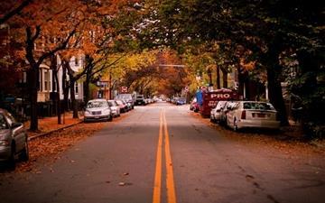 Autumn in City Mac wallpaper