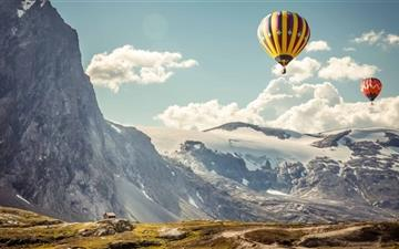 Hot Air balloons In The Air All Mac wallpaper