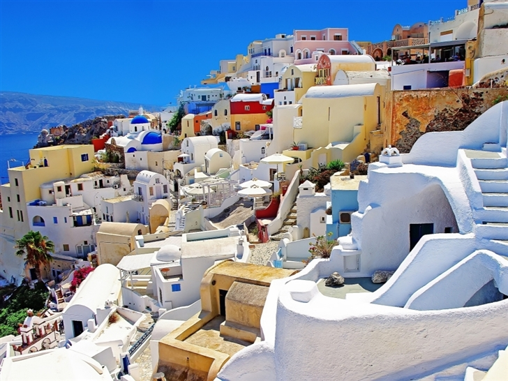 Santorini 0ia Greece Mac Wallpaper
