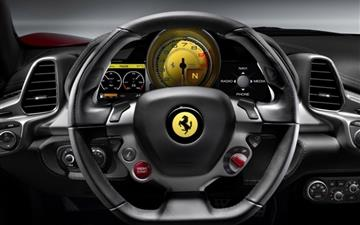 2010 Ferrari 458 Italia Steering Wheel MacBook Air wallpaper