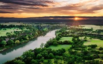 River Aerial View Mac wallpaper