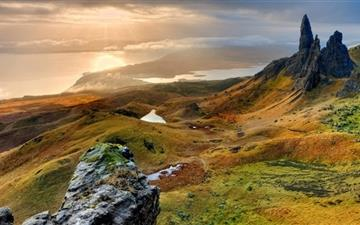 The Storr Hill Panorama Scotland All Mac wallpaper
