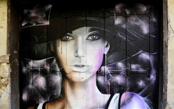 Beautiful Graffiti Portrait Mac wallpaper