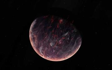Volcanic Planet Mac wallpaper