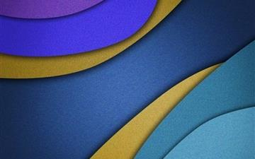 blue overlapping shapes All Mac wallpaper