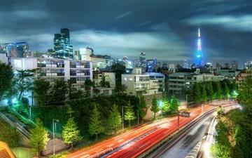 Tokyo evening Mac wallpaper