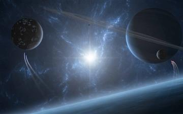 Planetary Rings Mac wallpaper