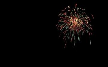 The Fireworks Mac wallpaper