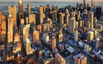 Chicago aerial view Mac wallpaper