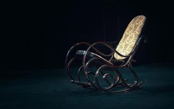 Retro rocking chair Mac wallpaper