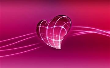 3D Pink Heart Mac wallpaper