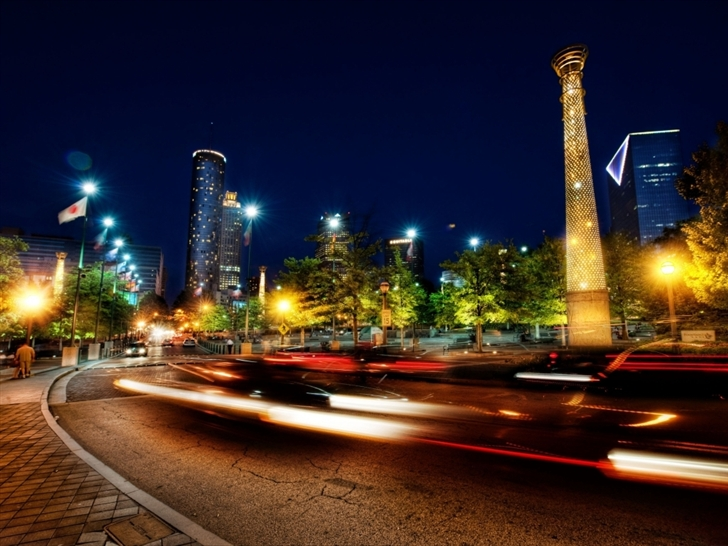Atlanta at night Mac Wallpaper