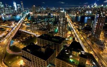 New York by night Mac wallpaper