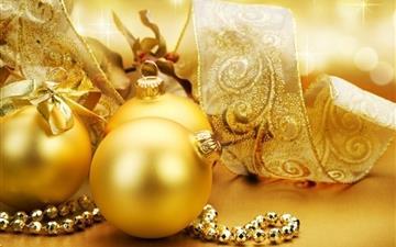 Christmas Globes Mac wallpaper