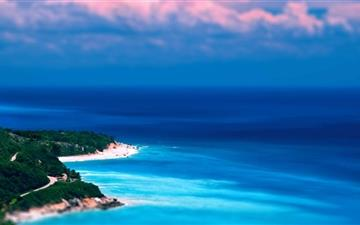 Caribbean Coast Tilt Shift All Mac wallpaper