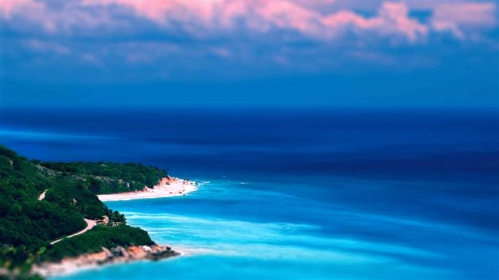 Caribbean Coast Tilt Shift Mac Wallpaper