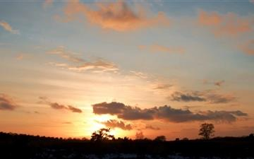 Sunset In Wolfheze Netherlands Mac wallpaper