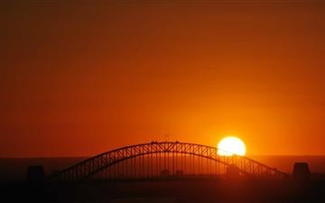 Sunset Over The Bridge Mac wallpaper