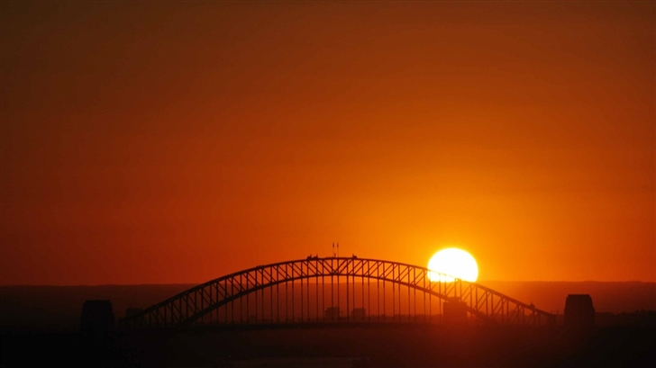 Sunset Over The Bridge Mac Wallpaper