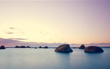 Rocks In The Water Mac wallpaper