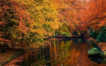 Lake in autumn landscape All Mac wallpaper