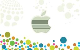 Apple Logo Among Multicolored Circles