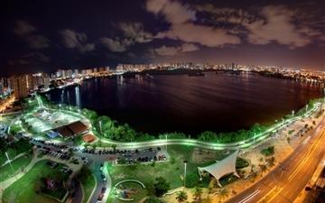 City at night Mac wallpaper