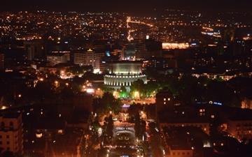 Armenia Yerevan At Night Mac wallpaper