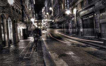 Gray City Night Mac wallpaper