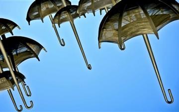 The Umbrellas Mac wallpaper