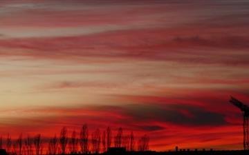 Red Sunset Mac wallpaper