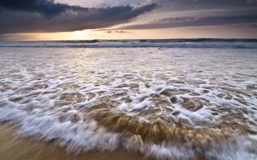 Ocean Wave Evening Mac wallpaper