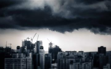 Storm Over Taichung Mac wallpaper