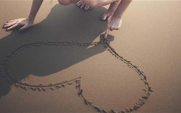 Heart Sand Beach Summer Love All Mac wallpaper