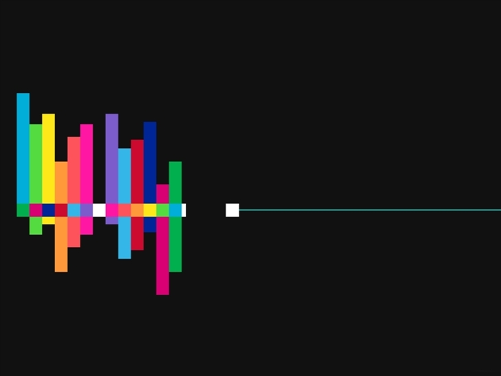 Colorful sound waves Mac Wallpaper