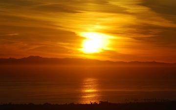 Beach Sunset Mac wallpaper