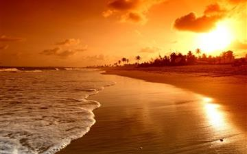 Beach Sunrise All Mac wallpaper