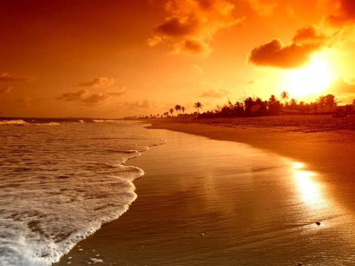 Beach Sunrise Mac Wallpaper