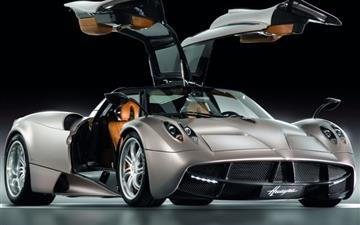 Pagani Huayra Gunmetal Front Side View Mac wallpaper