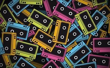 Audio tapes Mac wallpaper