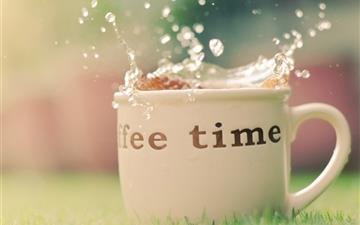 Coffee Time Mac wallpaper