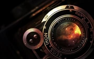 Space In Vintage Camera Lens MacBook Pro wallpaper