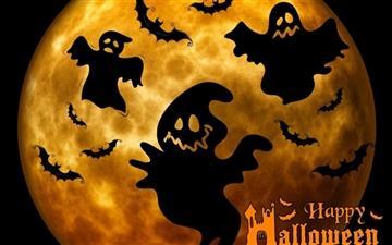 Halloween Ghosts Night Mac wallpaper