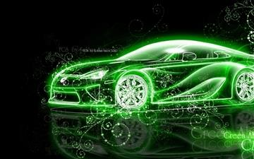 Lexus Abstract Fantasy Car Mac wallpaper