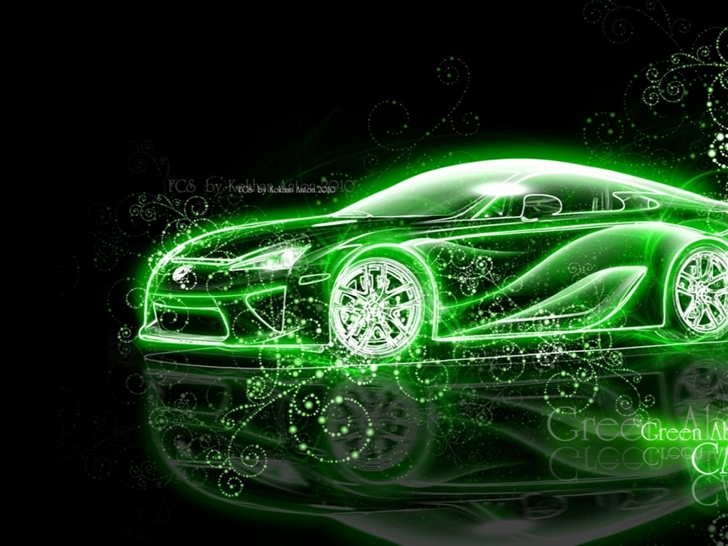 Lexus Abstract Fantasy Car Mac Wallpaper