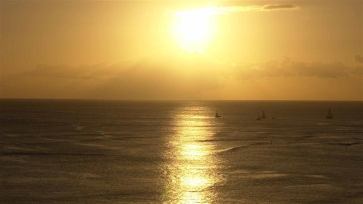 Oahu Hawaii Sunset Mac Wallpaper