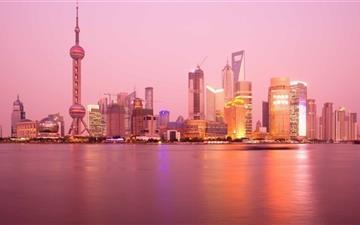 Pudong Skyline Shanghai Mac wallpaper