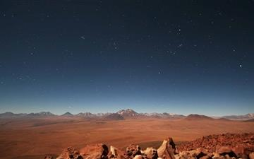 Starry Desert Sky Mac wallpaper