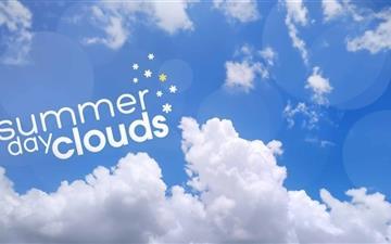 Summer Day Clouds Mac wallpaper